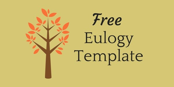 Free eulogy funeral speech template
