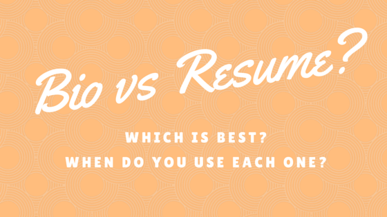 bio vs resume what s the difference and which is best