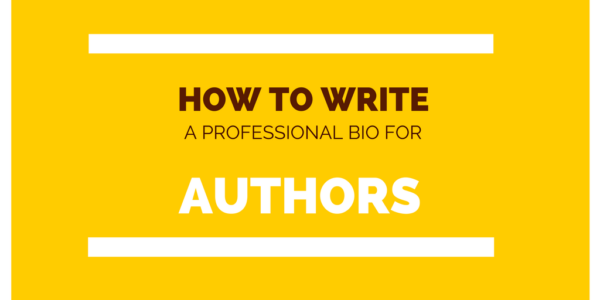 Write professional bio for writer author
