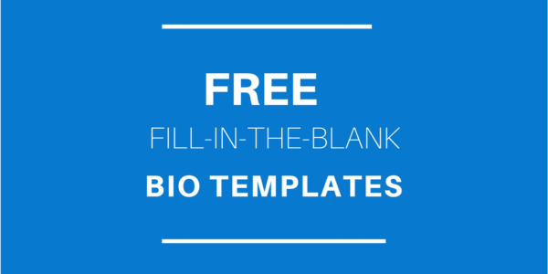 free fill in the blank bio templates for writing a personal or